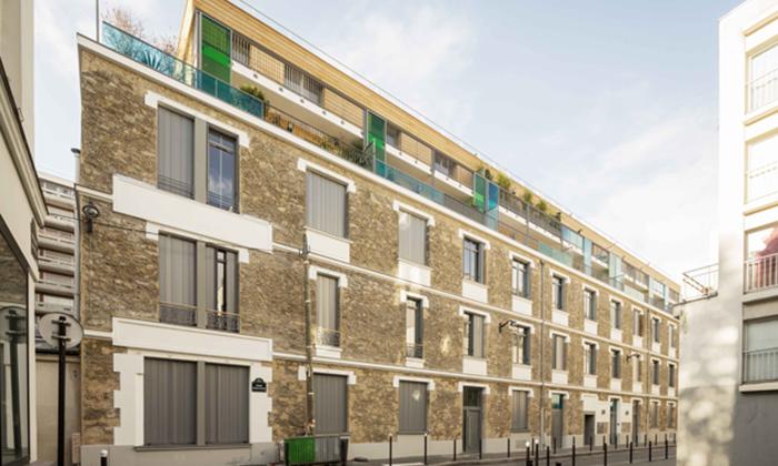 Réhabilitation et surélévation d'un immeuble de 42 logements à Paris 11