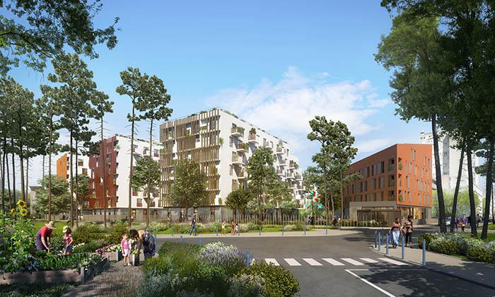 Construction d'une résidence étudiante, foyer, commerces et 15 logements à Bobigny