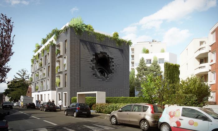 Construction d'un immeuble de 34 logements à Montreuil