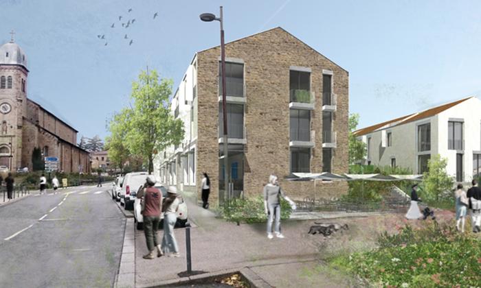 Réhabilitation et construction de 2 commerces et 19 logements à Dardilly