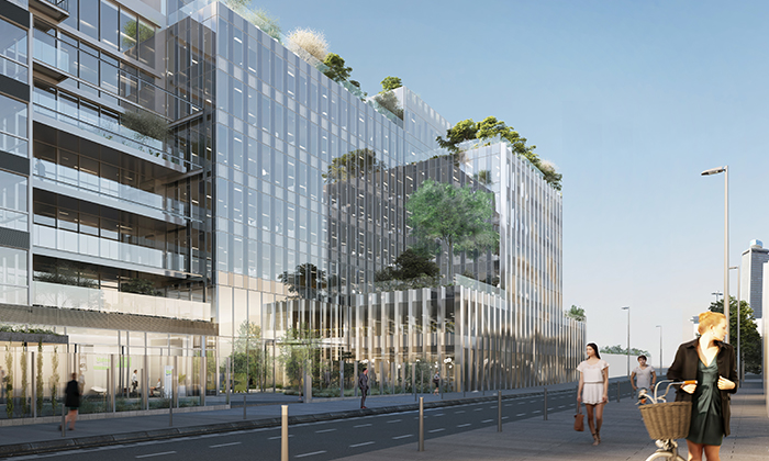 Construction d'un immeuble de bureau – Pleyad 4 à St-Denis