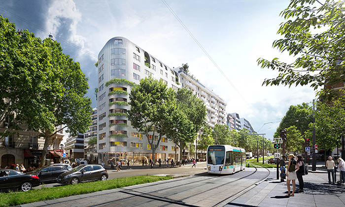 Construction de 77 logements et 1 commerce à Paris 14