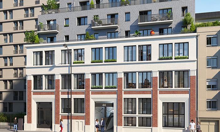 Surélévation et reconversion d'un immeuble de bureaux en 38 logements à Paris XX